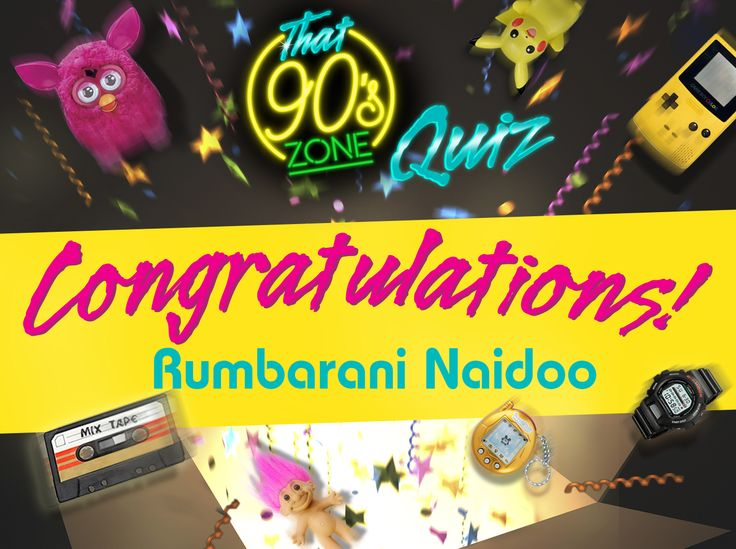 You correctly guessed who had the hit single 'Lovefool', the date Nelson Mandela was released from prison, and what year Intel introduced its first Pentium processor… A big congratulations to Rumbarani Naidoo! You're the lucky winner of R5,000! Challenge your friends to get 100% to be in the running for next week's R5,000 cash prize #YourDriveSince95
