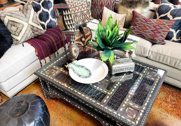 Kilim And Ikat Pillows, Moroccan Coffee Table, Rustic Luxe Layers Tierra  Del Lagarto   Scottsdale Furniture Store