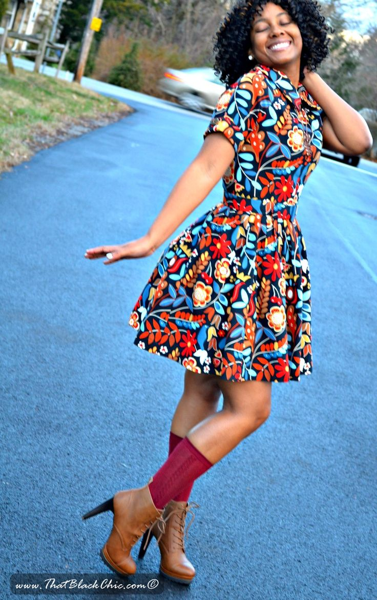 That Black Chic: Fabric, IKEA, what?? Yes I made a dress with Fabric from IKEA. [Simplicity Dress 1755 Pattern Review]