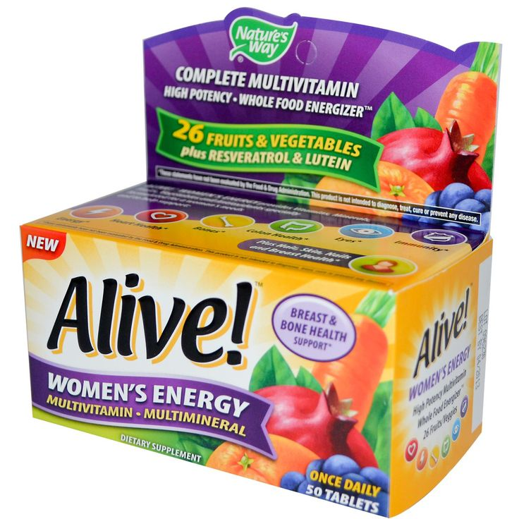 Nature's Way, Alive!, Women's Energy, Multivitamin · Multimineral, 50 Tablets
