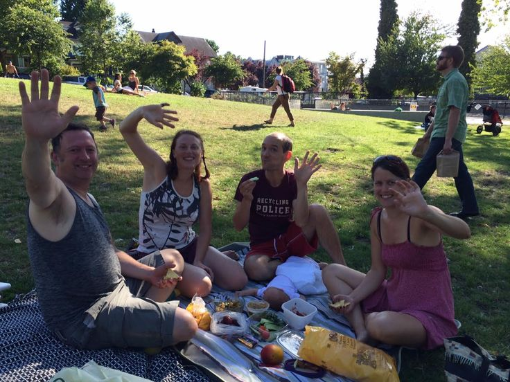 Grandview-Woodland: Where there is much friendly picnicking of young and old! (Note baby on blanket! And... no one in this photo is old! ;)) ^CB