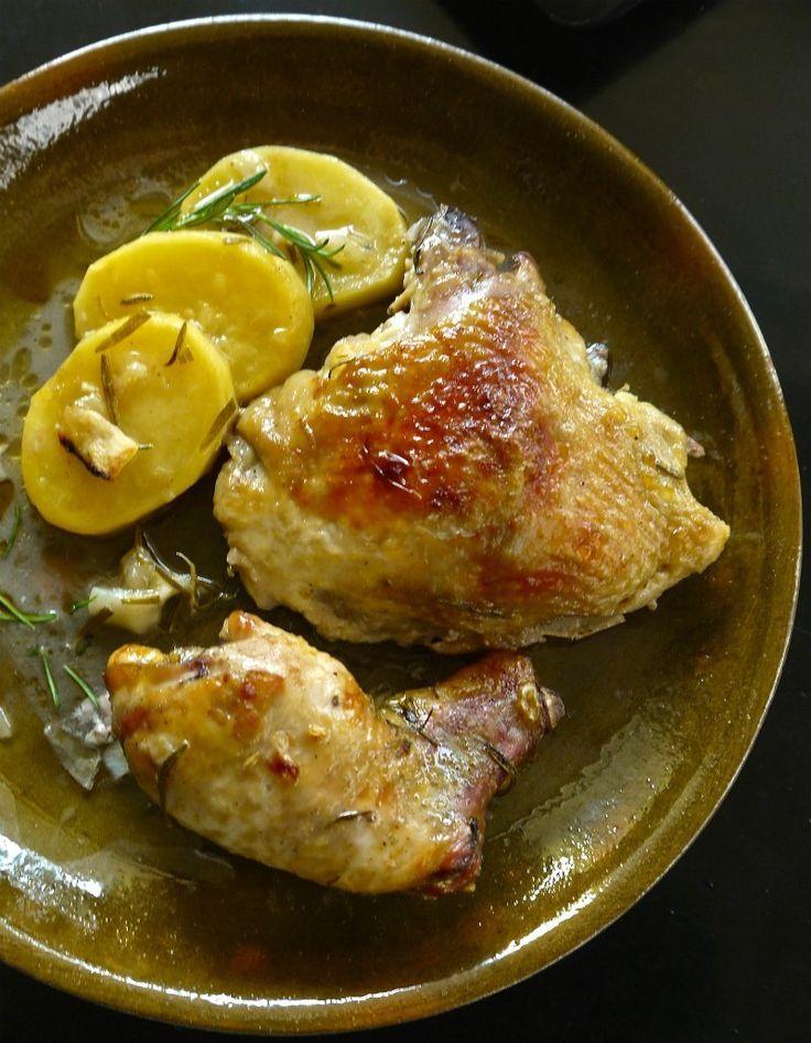 κοτόπουλο ψητό με λεμόνι και δενδρολίβανο1