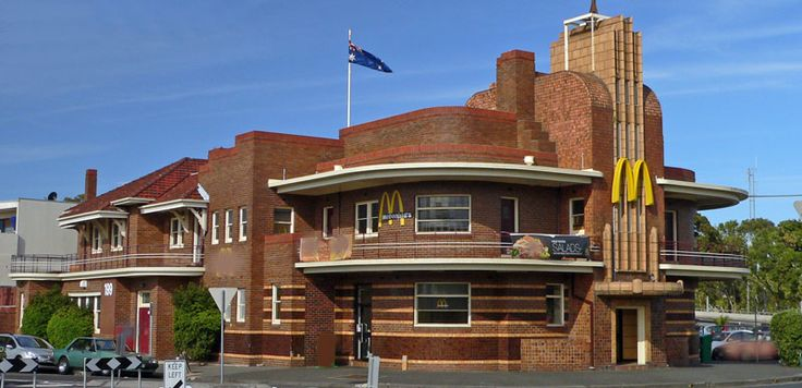McDonalds in an Art Deco 1930 building in Melbourne. Not sure if I should embrace this. Or cry.