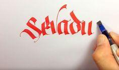 Lettering : petit tuto pour bien manipuler le Pilot Parallel pen