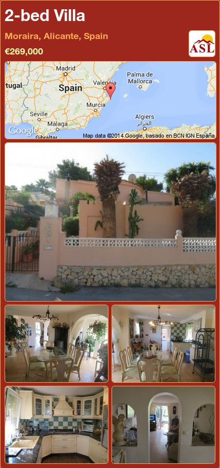 2-bed Villa in Moraira, Alicante, Spain ►€269,000 #PropertyForSaleInSpain