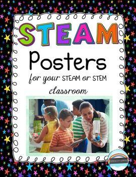 STEAM Posters by Rainbow City Learning | Teachers Pay Teachers