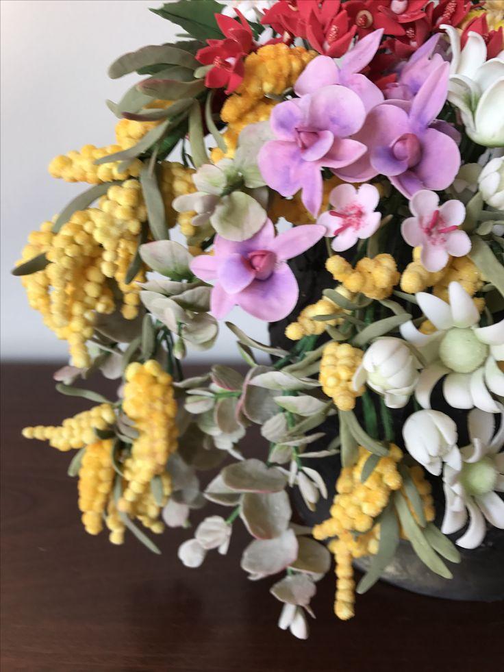 Gum paste Cooktown orchids