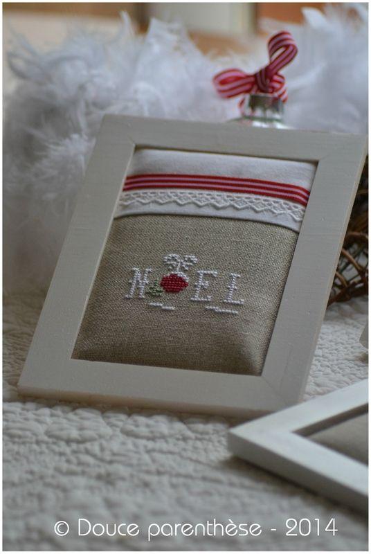 Je suis toujours fan du blog de Douce Parenthèse et de ses finitions : un vrai régal pour les yeux Noel rouge et blanc 1