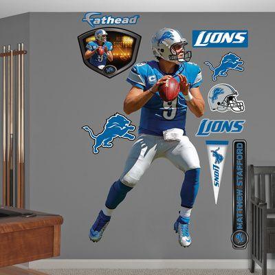 NFL Detroit Lions Matthew Stafford 2012 Blue Wall Decal Sticker