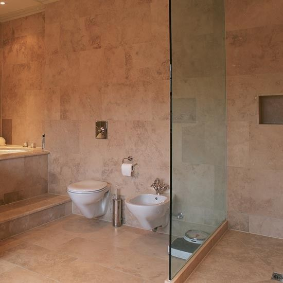 Limestone shower room