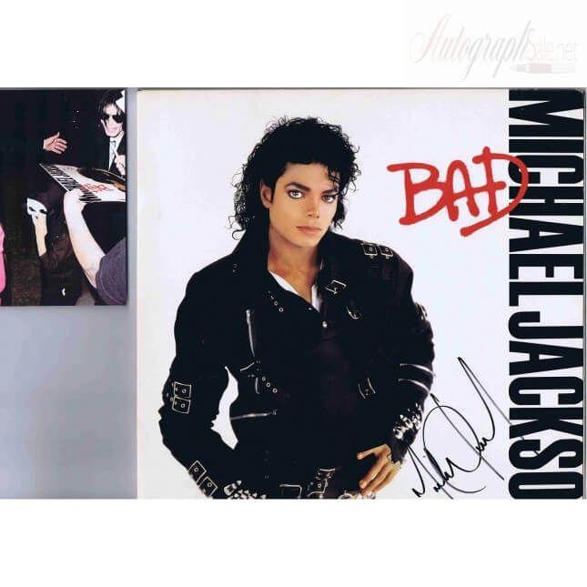 Michael Jackson Autographed BAD Lp