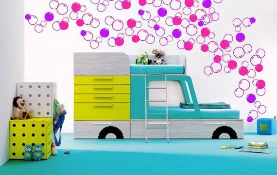 Autocollant de bulles 88 art vinyle Art salle de bain douche Tile Stickers enfants Stickers muraux