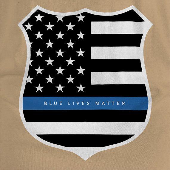 Adult Blue Lives Matter Police Officer Support by ...