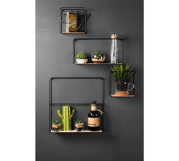 Retro Wall Unit 1 X Approx 39cm Tall And 39cm Wide And 11cm Deep 1 X Approx 35cm Tall And 18cm Wide And In 2020 Wall Shelf Display Wood Box Shelves Metal Wall Shelves