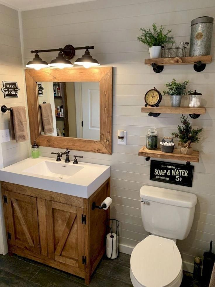 Bathroom Ideas Bathroom Remodel Bathroom Bathroom And Decor Organization Bathrooms Ca In 2020 Small Farmhouse Bathroom Farmhouse Bathroom Decor New Bathroom Designs