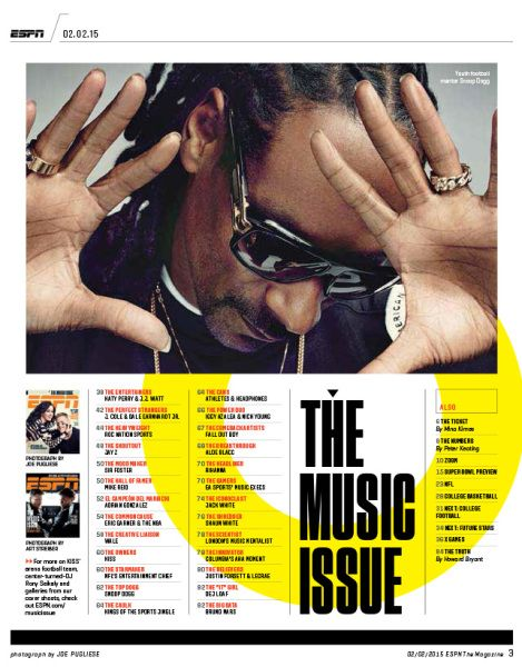 The Music Issue contents