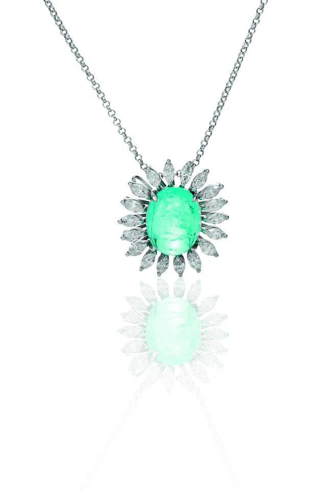 Colar Turmalina Paraíba e diamantes navete