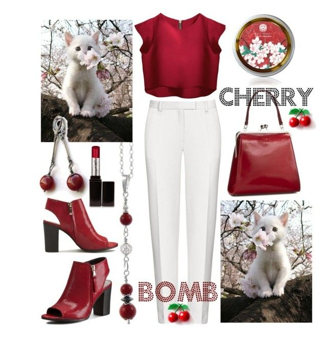 Cherry kitty bomb ;-) by amisha73 on Polyvore featuring moda and Laura Mercier