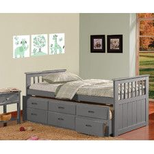 brian twin captain bed with 3 drawers - Twin Captains Bed