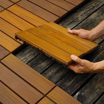 Updating your deck is a snap with deck tiles that quickly cover weathered wood decks, cracked concrete surfaces, porches, or walkways. In one afternoon, you can create a beautiful outdoor structure that will last the summer and beyond. Bonus: These tiles come in eco-friendly, rot-resistant, and cost-efficient options.