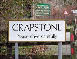 silly names: Crapstone, Devon