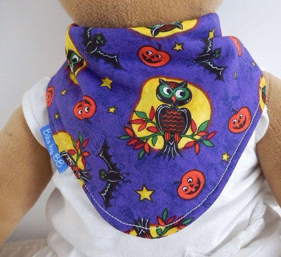 Handmade Halloween Waterproof Bib by BibsByBB on Etsy