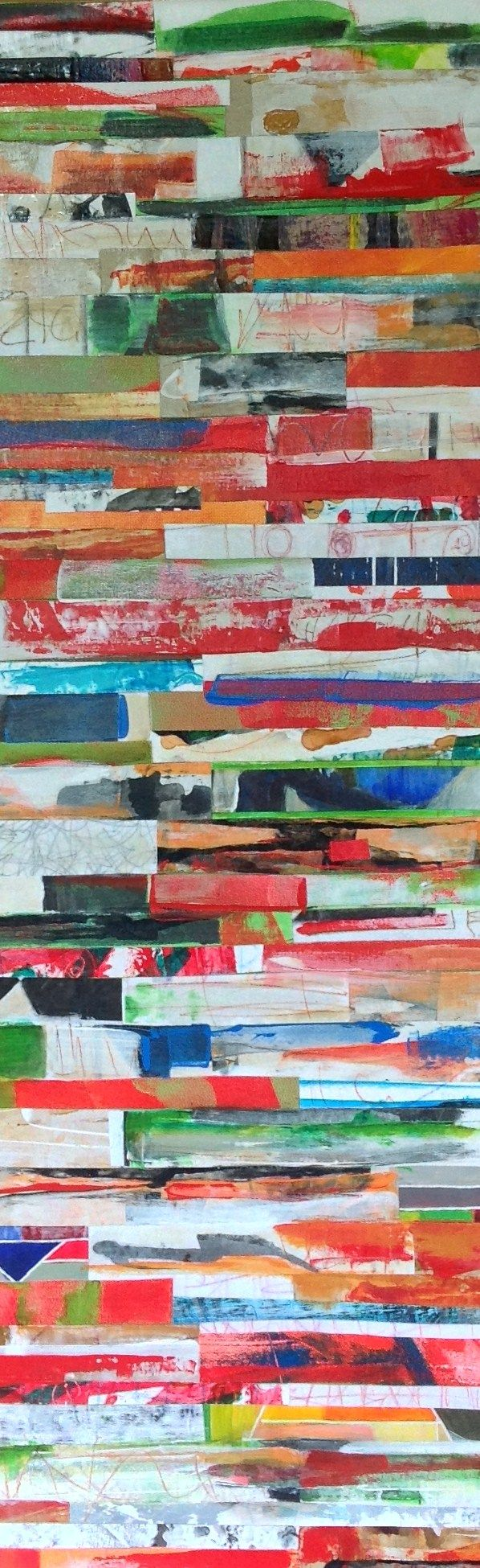 Collage#Strata#Mixed Media#Acrylic#Canvas
