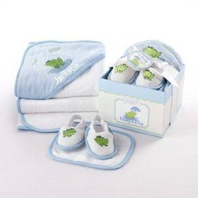 Finley the Frog Four-Piece Hat Box Bath Time Gift SetBaby Aspen, Bathtime Gift, Hoods Towels, Gift Ideas, Baby Shower Gift, Gift Sets, Frogs, Baby Gift, Bath Time
