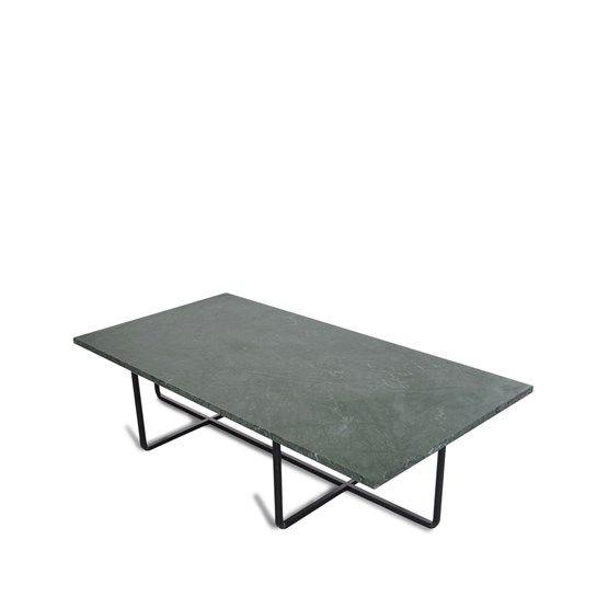 Ninety soffbord rektangulärt - Ninety soffbord rektangulärt - 30 cm, grön, svart stativ