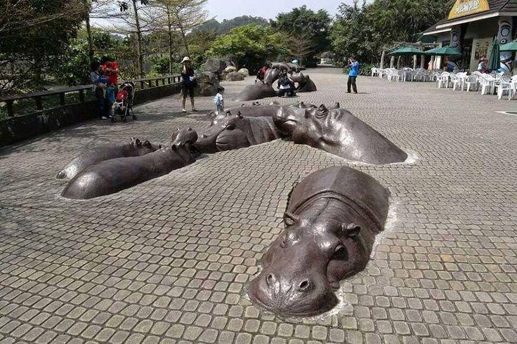 Estatua de hipopotamo!