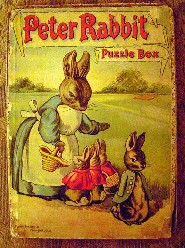 victorian childrens toys | Milton Bradley Beatrix Potter Peter Rabbit Puzzle, circa 1913
