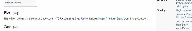 """Someone """"corrected"""" the plot for the new X-Men on wikipedia"""