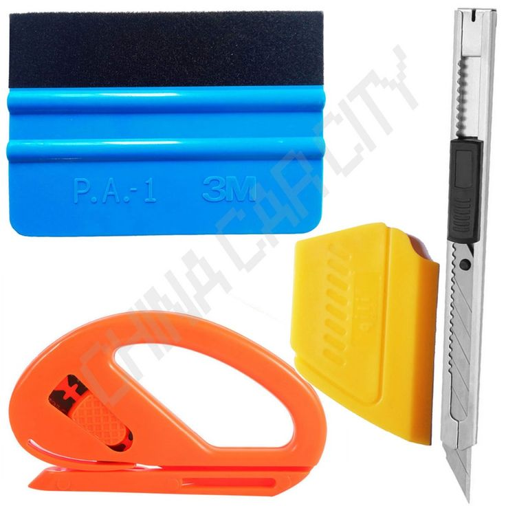 4 in 1 Auto Car Window Vinyl Film Wrap Installation Application Tools Kit 3M Felt Squeegee Safety Snitty Cutter art knife K08