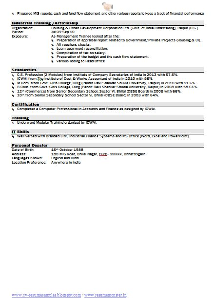 Free Resume Format Download (Page 2)  Resume Formats Free