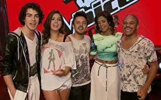 Os finalistas do The Voice Brasil.