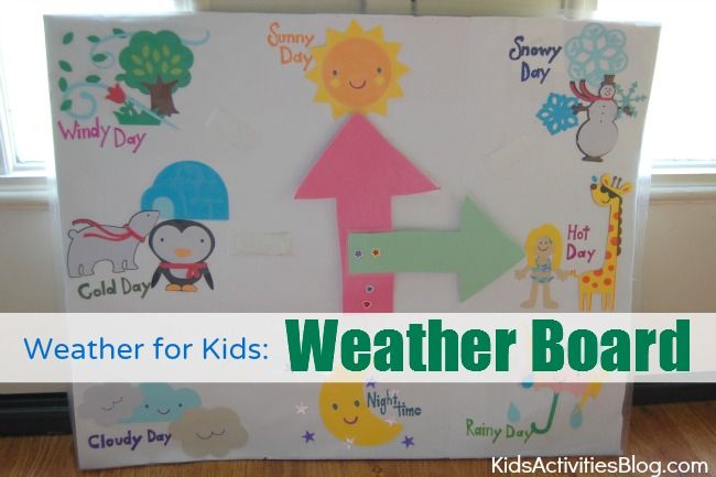 Weather for Kids: Weather Board by Havalyn at Kids Activities Blog