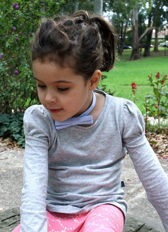 'Grey Marle' girls organic cotton long sleeve tee – Little Emperor