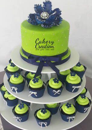 how to make navy blue cake batter