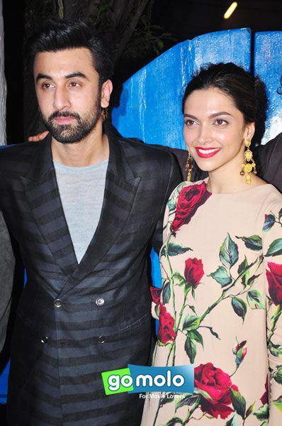 Ranbir Kapoor & Deepika Padukone at the Success party of Hindi movie 'Tamasha' at Olive in Bandra, Mumbai