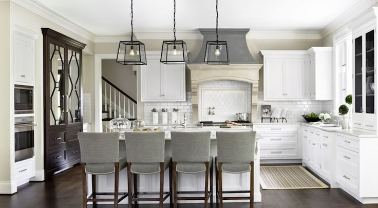 Caden Design Group: Gorgeous L Shaped Kitchen With White