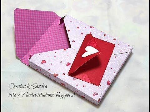 Scrap tutorial:Scatola 3d con envelope punch board - Box 3d - Packaging tutorial
