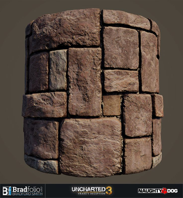 ArtStation - Uncharted 3: Basic Material Samples - Stone Wall, Bradford Smith