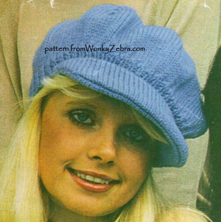 WZ431 knitted baker boy hat pattern