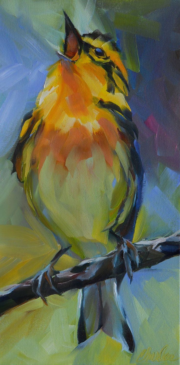 Fine watercolor art for sale - Daily Paintworks Big Little Bird Original Fine Art For Sale Beth Charles
