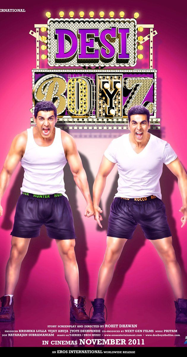 Directed by Rohit Dhawan.  With Akshay Kumar, John Abraham, Chitrangda Singh, Sanjay Dutt. Two friends lose their jobs, then part bitterly after they get exposed as male escorts.