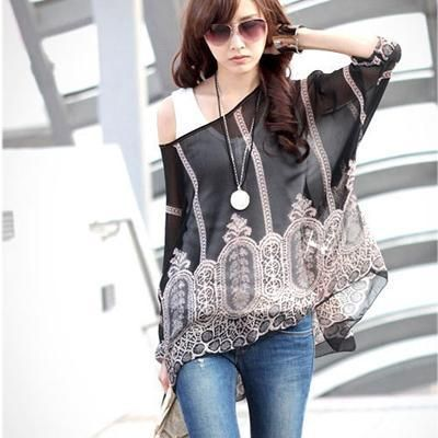 5b2ac5e829522 Blusas Women Blouses 2018 New Fashion Womens Casual Chiffon Blouse Summer  Style 4XL 5XL 6XL Plus