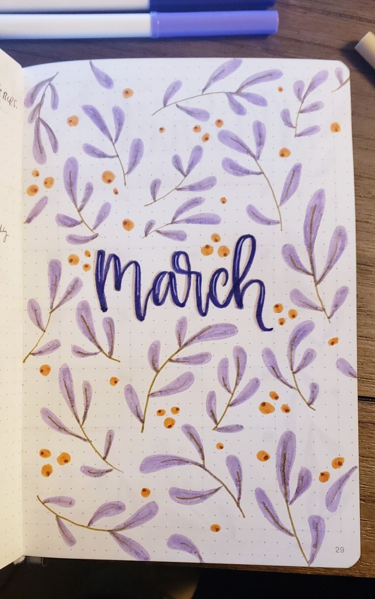 march 2019 cover. work bullet journal. purple theme! inspired by Simone O. #bull… march 2019 cover. work bullet journal. purple theme! inspired by Simone O. #bulletjournal #bujo