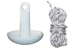 Sea Eagle Kayak Anchor Kit - Mushroom Anchor Kit for Kayaks. Includes Mushroom Anchor and 25 ft. of rope. Sports > Water Sports > Boat Accessories. Weight: 9.00