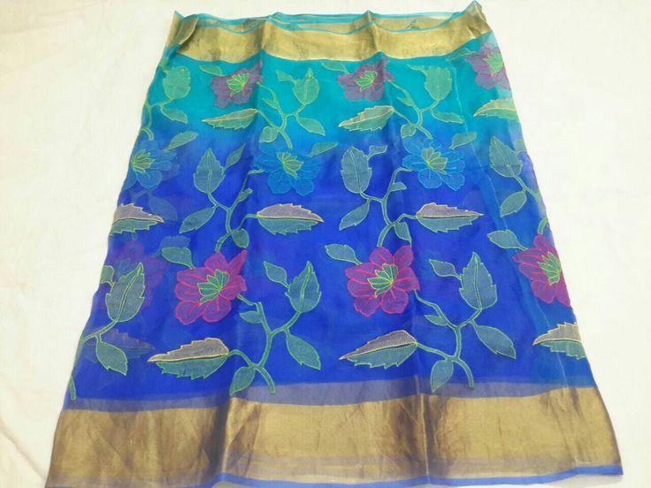 Organza silk saree.price 4500/-
