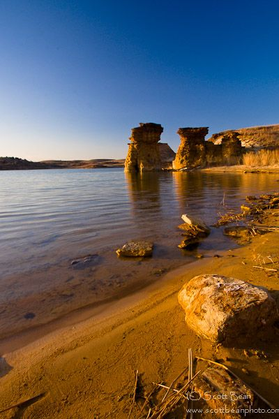 Wilson Lake, Smoky Hills, Kansas....I've been here, must have missed this view